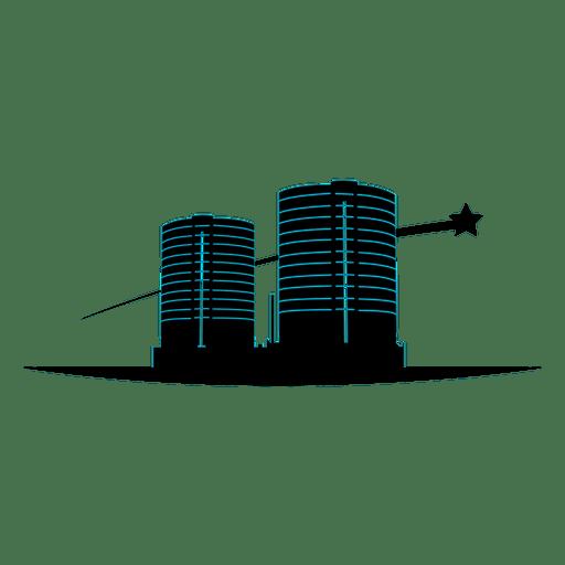Multistory buildings icon