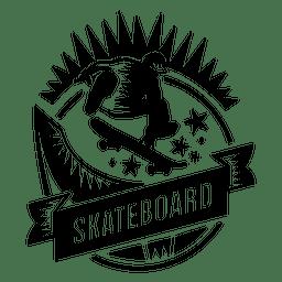 Logotipo do skatista
