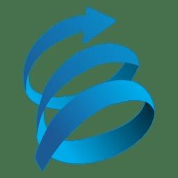 Icono de órbita de flecha giratoria