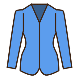 Stroke blue blazer clothing icon