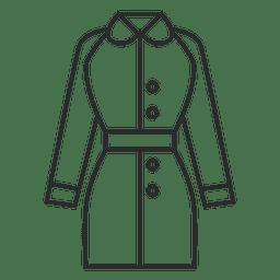 Stroke vestido de roupa jaqueta
