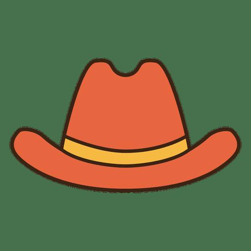 Stroke orange cowboy hat Transparent PNG