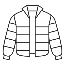 Stroke striped jacket clothing