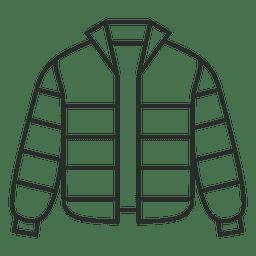Vestuário de jaqueta listrada
