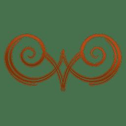 Swirl wooden logo