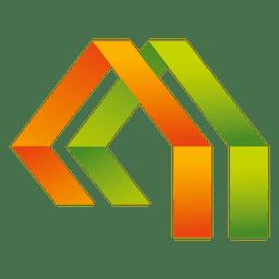 Triángulos icono de la casa