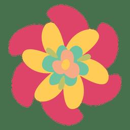 Ilustración de la flor de la torcedura