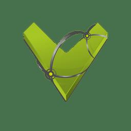 V 3d letter isotype