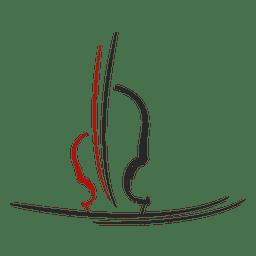 Logotipo musical de violino