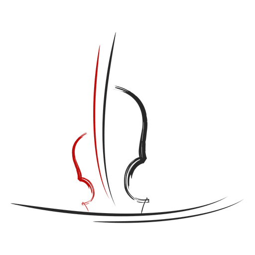 Logotipo musical de violino Transparent PNG