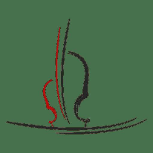 Violin musical logo
