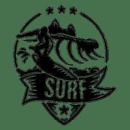 Logotipo de surf Wave