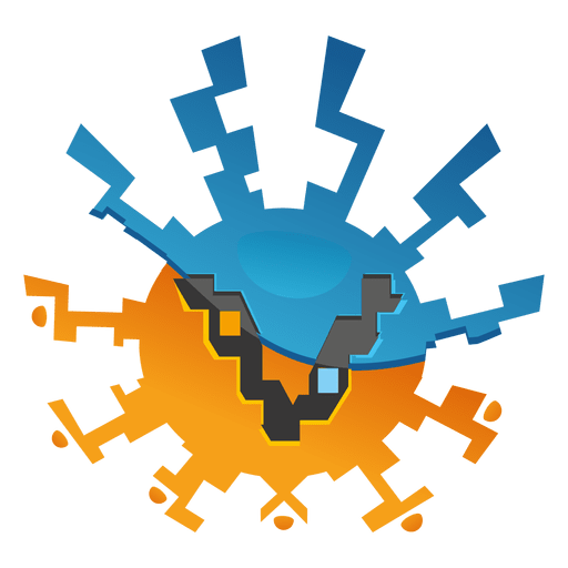 Zig zag orb marketing logo