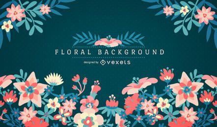 Fondo floral con marco