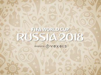 Rússia 2018 Copa do Mundo padrão