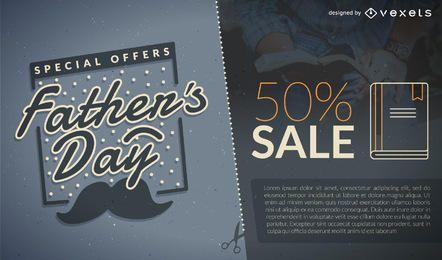 Promoción del día del padre por 50% de venta.