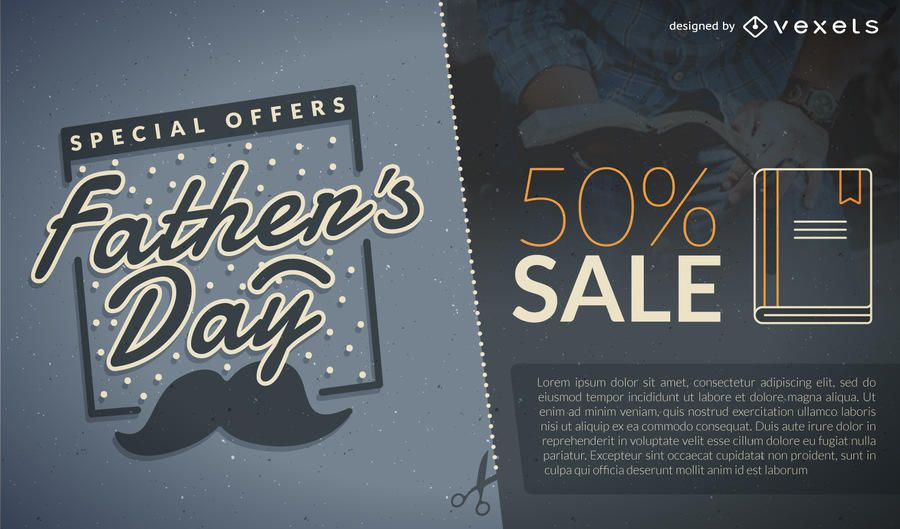 Father's Day promo for 50% sale
