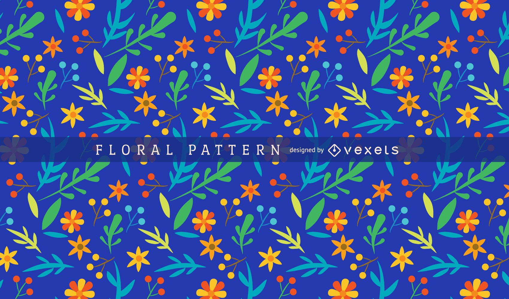 Bright And Colorful Floral Pattern Vector Download