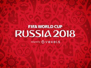 Rússia 2018 Padrão da Copa do Mundo da FIFA