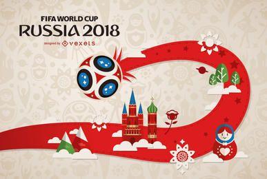 Rússia 2018 Copa do Mundo FIFA design