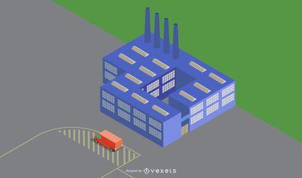 Diseño vectorial de edificio