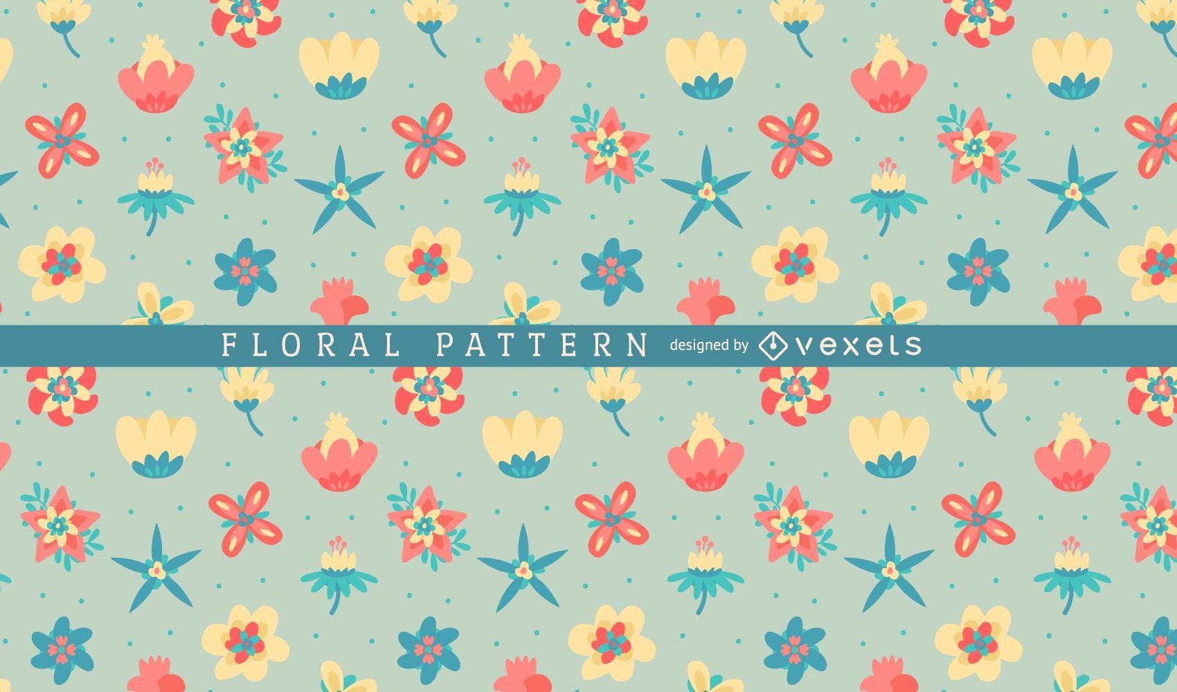 Soft tones floral pattern background