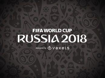 Rússia 2018 Copa do mundo design padrão