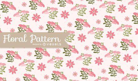 Fondo de patrón floral rosa