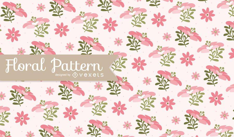 Rosa patrón floral de fondo