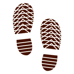 Human shoes footprints silhouette illustration