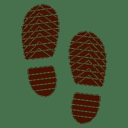 Sapatos humanos pegadas silhueta ilustração
