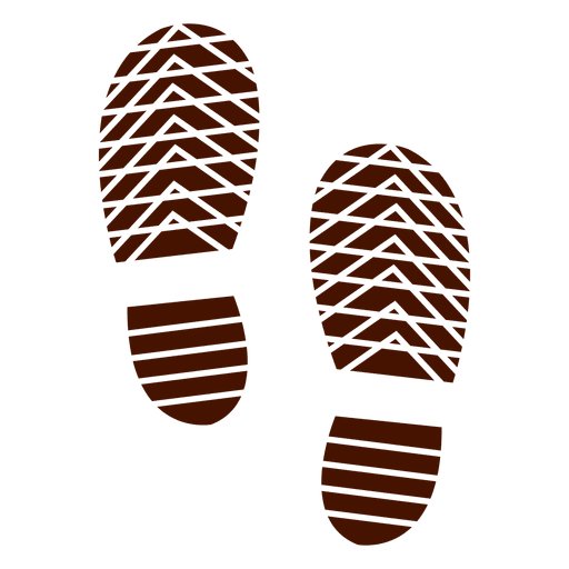 Human shoes footprints silhouette illustration Transparent PNG