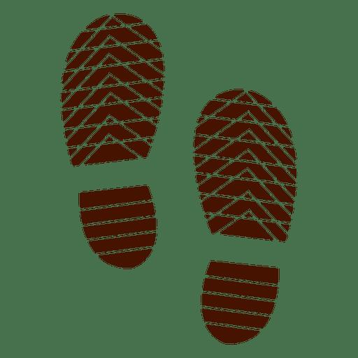 Ilustración de silueta de huellas de zapatos humanos Transparent PNG