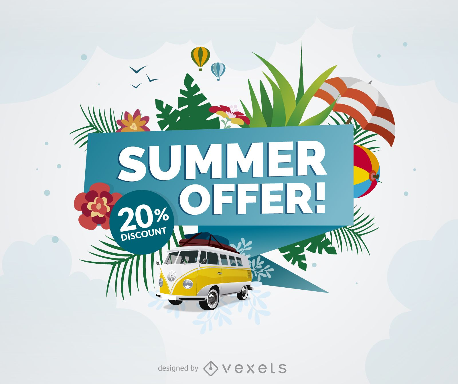 Summer offer promo poster