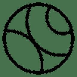 Logotipo abstrato do círculo
