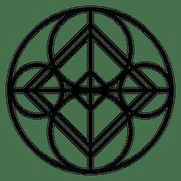 Logotipo de forma de círculo abstracto