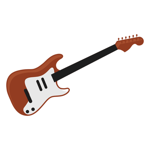 Electric Guitar Illustration Transparent PNG