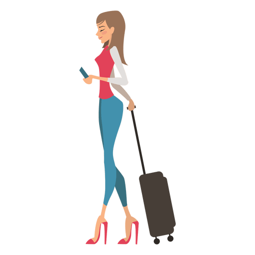 Young Shopping Girl Cartoon Transparent Png Svg Vector File