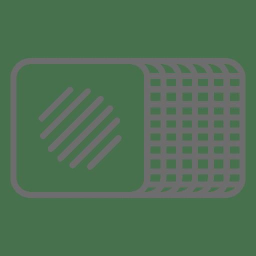 Ham stroke icon