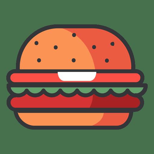 Fast food Hamburger flat icon