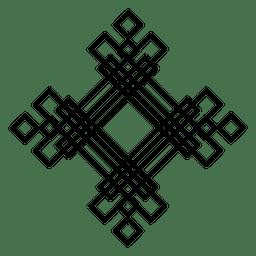 Forma cuadrada abstracta del logotipo