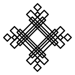 Forma de logotipo quadrado abstrato