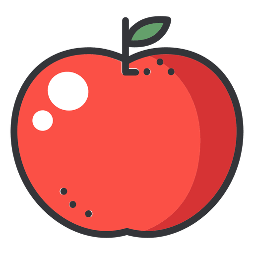 apple color stroke icon transparent png - Apple Pictures To Color
