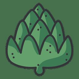 Artichoke color icon