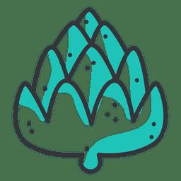 Icono de trazo de alcachofa