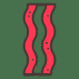 Comida de ícone de traço de bacon