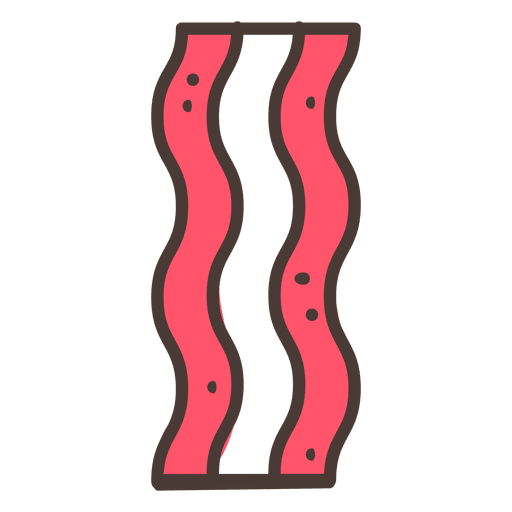 Comida de ícone de traço de bacon Transparent PNG