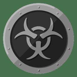 Símbolo de metal de riesgo biológico