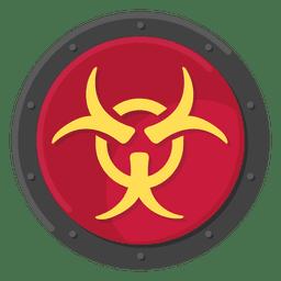 Color del símbolo del metal del peligro biológico
