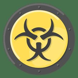 Biohazard símbolo de metal amarillo